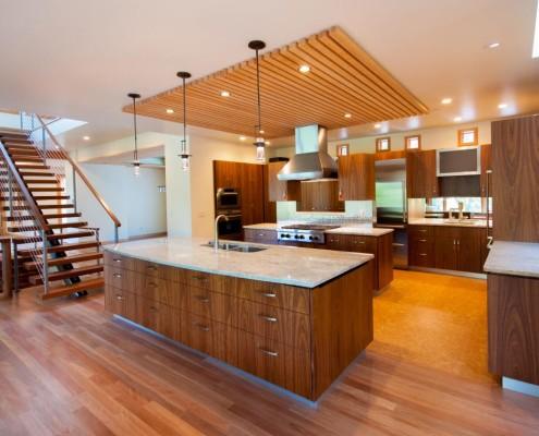 Delgado Architect Ashland Residence Kitchen Drop Ceiling Open Floor Plan