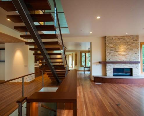 Delgado Architect Ashland Residence Floating Staircase