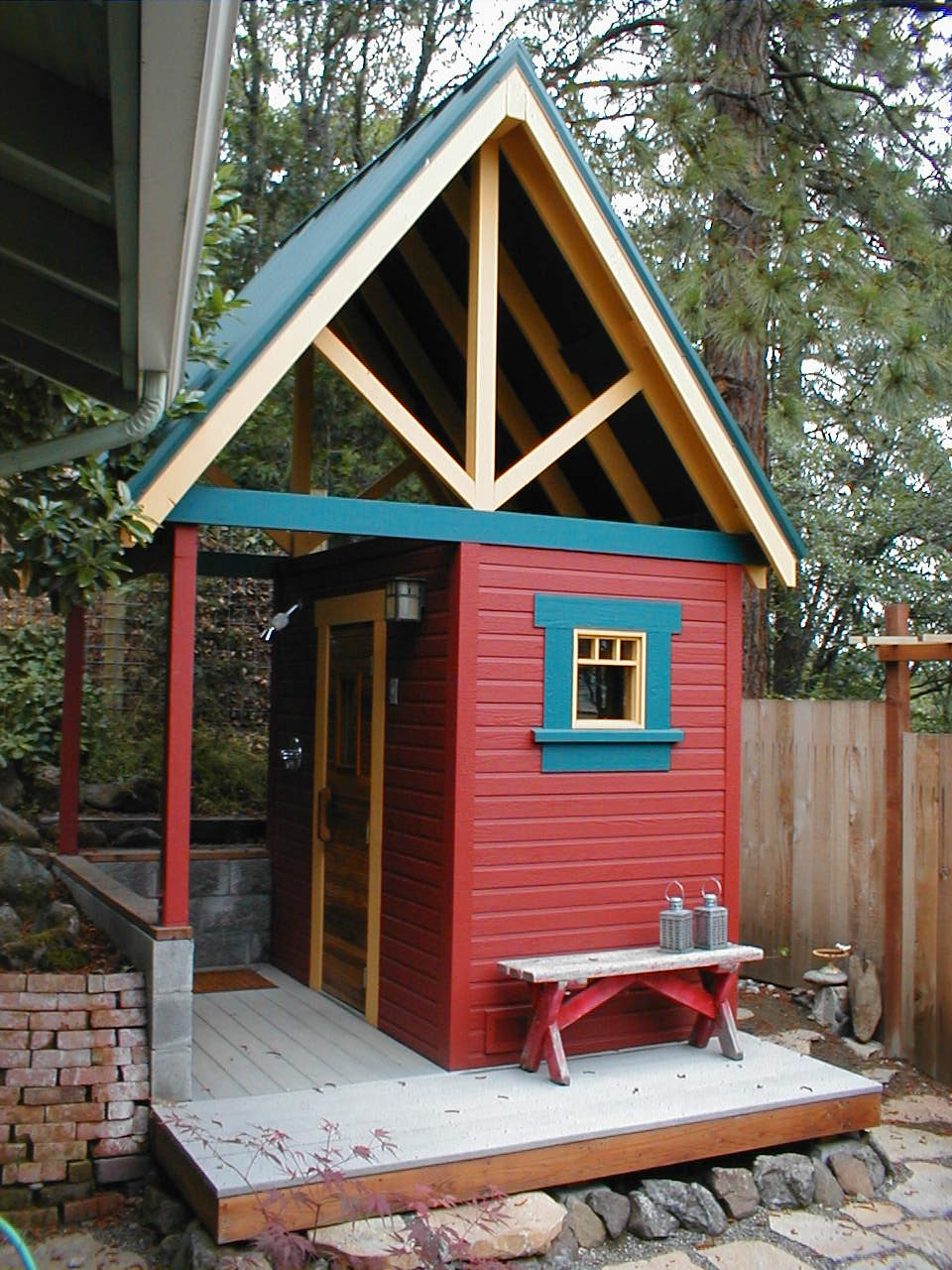 This Backyard Sauna Successfully Screens Views To And From A Nearby  Neighbor And Becomes A Playful Element In A Small Backyard. The Owners Were  Interested ...