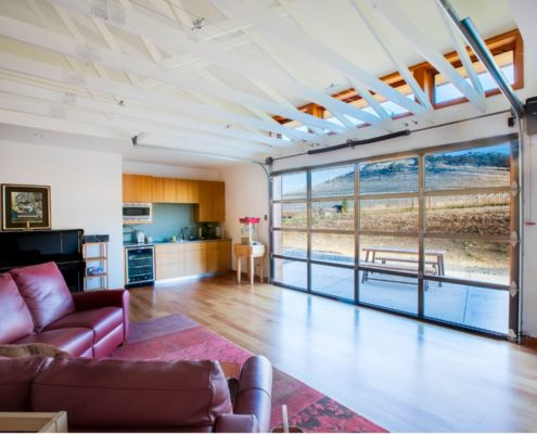 Delgado Architect Ashland Ranch Annex Glass Garage Door