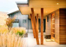Delgado Architect Ashland Slanted Wood Posts