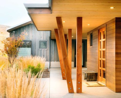 Delgado Architect Ashland Slanted Wood Posts
