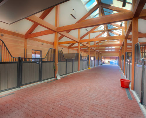 Delgado Architect Ashland Ranch Horse Stables with Skylights