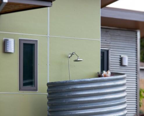 Delgado Architect Ashland Outdoor Shower Corrugated Metal